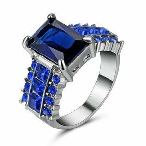 Princess Cut Sapphire Engagement Ring Women's Ring